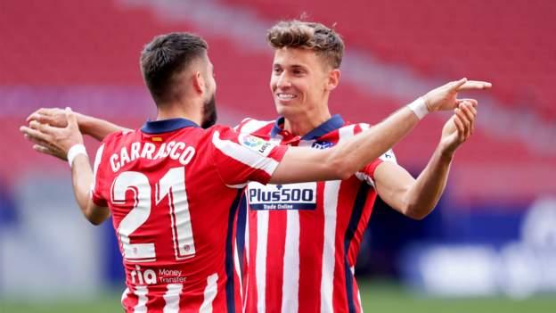 Atletico Madrid 5-0 Eibar: Forwards star in emphatic victory - bbc