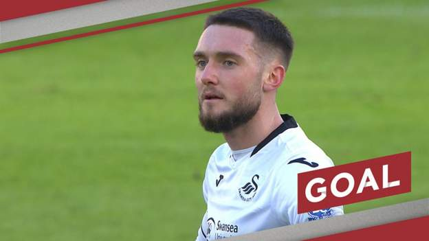 FA Cup: A Matt Grimes thunderbolt puts Swansea City two up against Nottingham Forest - bbc