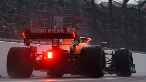 Norris on shock pole position in Russia