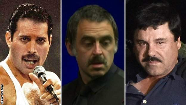 Freddy Mercury, Ronnie O'Sullivan and El Chapo Guzman