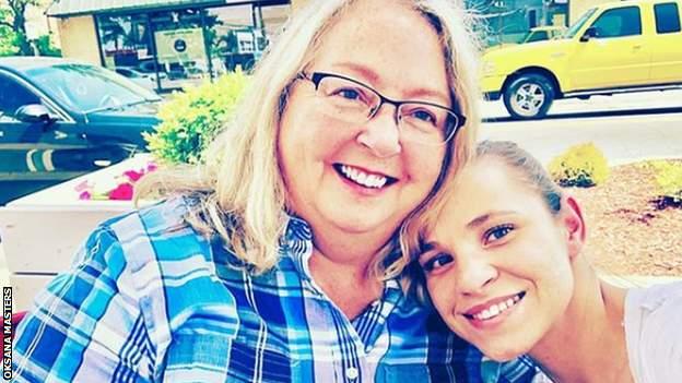 Oksana Masters and her mum