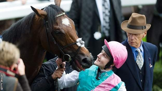 in_pictures Frankel, jockey Tom Queally and trainer Sir Henry Cecil