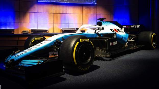 The new Williams car has a new look