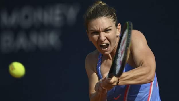 Prague Open: Simona Halep beats Elise Mertens in final - BBC Sport