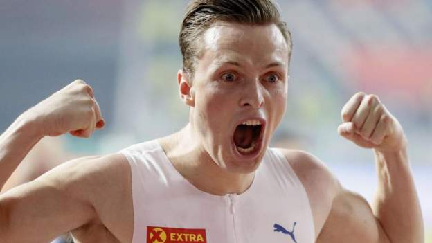 Karsten Warholm and Team Ingebrigtsen star at Impossible Games - BBC Sport