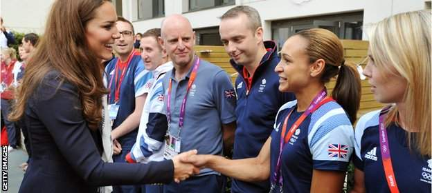 Jessica Ennis-Hill meets the Duchess of Cambridge