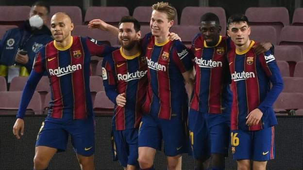 Messi scores twice in Barcelona win