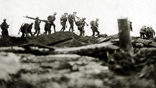 Irish soldiers fighting in World War One