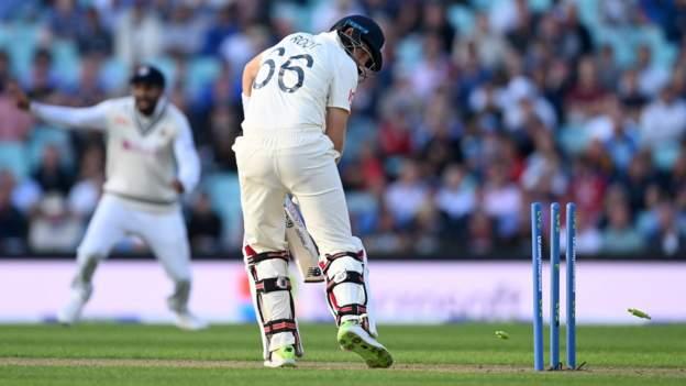 England v India: Joe Root wicket leaves Kia Oval Test poised
