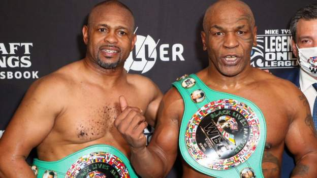 Mike Tyson and Roy Jones Jr share an engaging draw in 'exhibition' bout