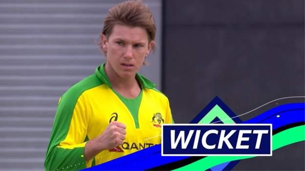 England v Australia: England lose fifth wicket as Sam Billings caught reverse-sweeping Adam Zampa thumbnail