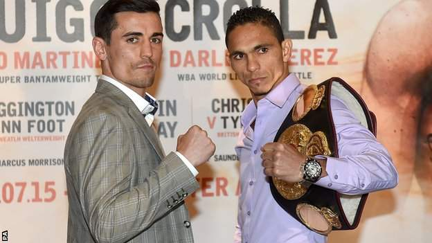 Anthony Crolla and Darleys Perez