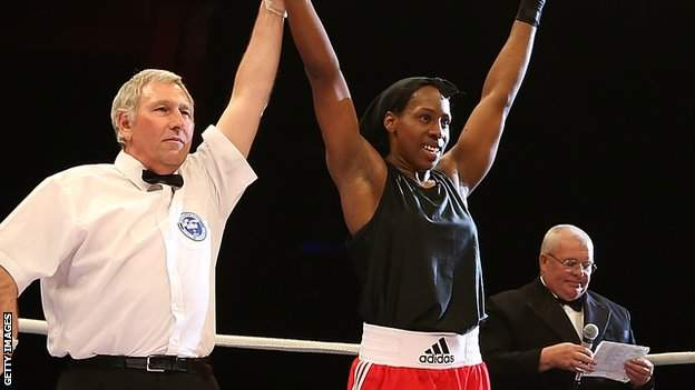 Natasha Gale (R) celebrates a win over Nikoletta Paksi