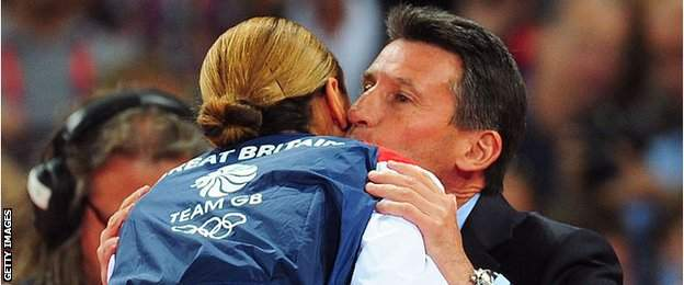 Jessica Ennis-Hill and Lord Coe