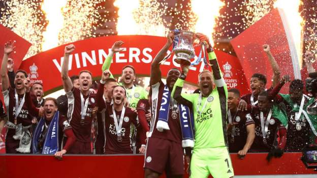 Leicester win FA Cup for first time
