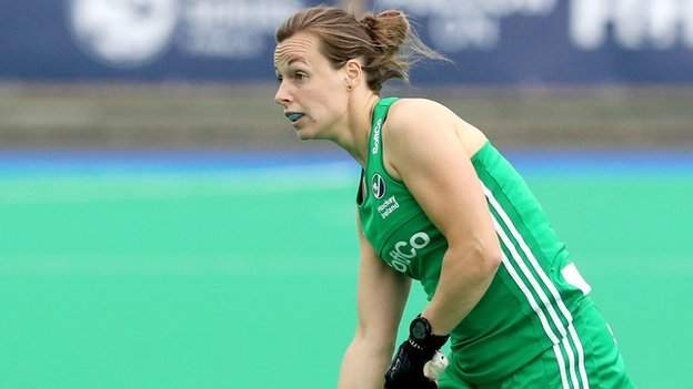 Megan Frazer in action during last year's Olympic qualifying tournament in Banbridge
