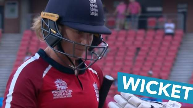 Women's T20 World Cup: England lose early wicket as Tammy Beaumont goes for a duck