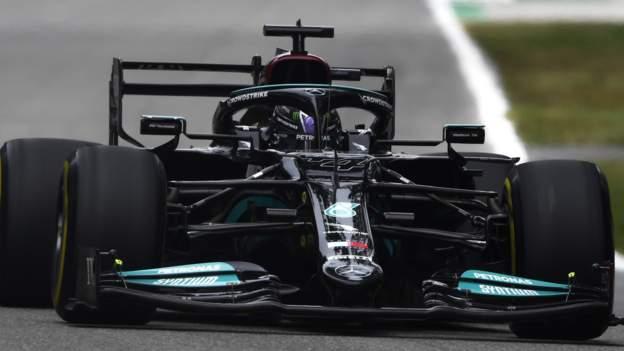 Italian Grand Prix: Lewis Hamilton top in first practice at Monza