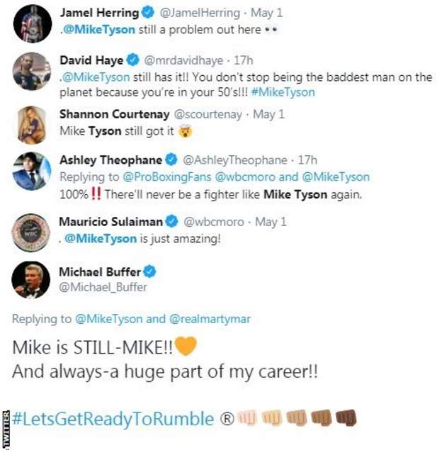 Those in the boxing world react to the Mike Tyson video of him punching the pads. David Haye says Tyson