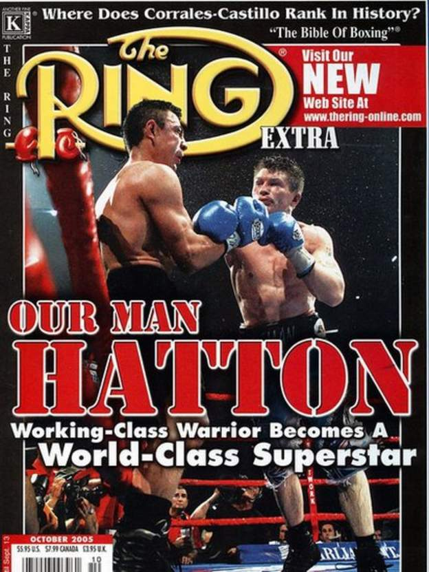 Hatton's win featured on the cover of the prestigious Ring Magazine
