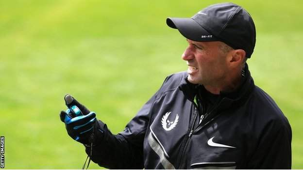 Alberto Salazar pictured during a training session at Nike campus in Beaverton, Oregon, in 2013
