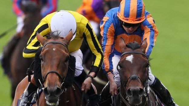 Big Orange (left) edged out Order Of St George to win Thursday's Gold Cup