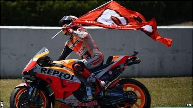 Spain's Marc Marquez won the MotoGP race in Jerez, Spain in 2019