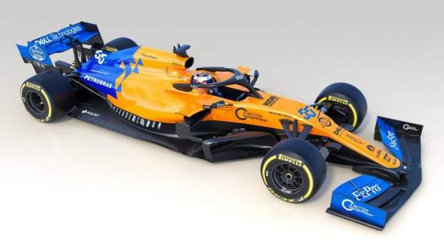 The new McLaren MCL34 car