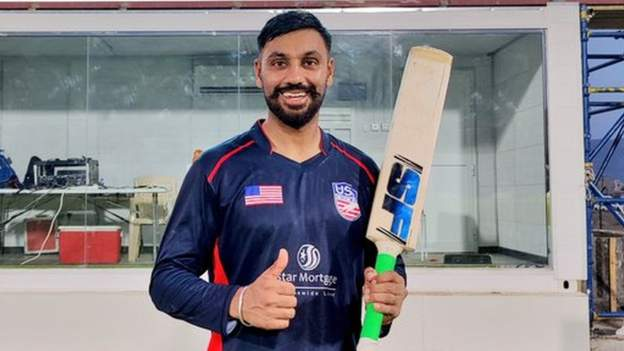 Jaskaran Malhotra: USA batsman hits six sixes in over in ODI v Papua New Guinea