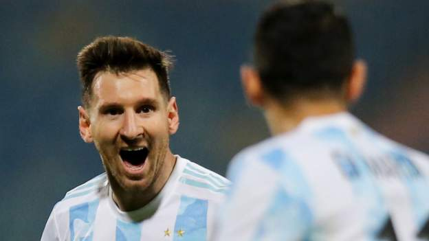 Copa America: Lionel Messi inspires Argentina to set up Colombia semi-final