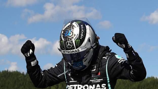 Hamilton penalised for collision as Bottas wins thumbnail