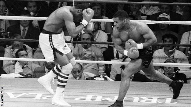It took 91 seconds for Tyson to land a stunning win
