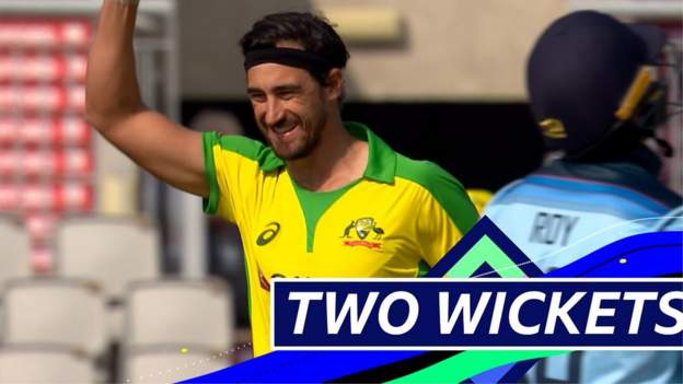 England v Australia: Mitchell Starc takes wickets of Jason Roy and Joe Root in first two balls thumbnail