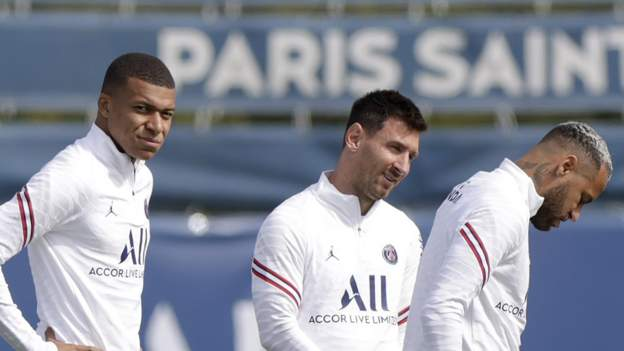 Lionel Messi, Neymar and Kylian Mbappe named in PSG squad for Reims game