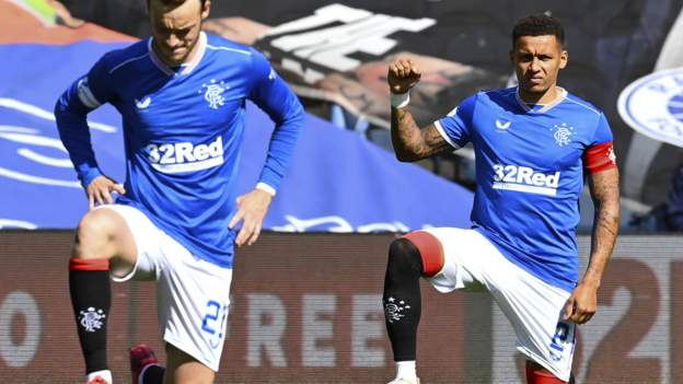 James Tavernier: Rangers captain urges fans to back players in taking the knee