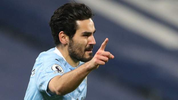 Man City: From stop-gap to goal-machine - Ilkay Gundogan emerges as unlikely driving force - bbc
