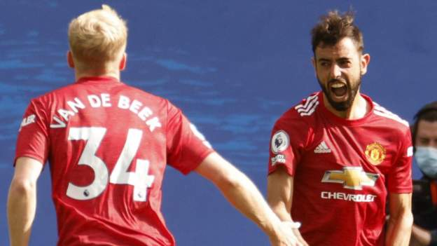 Brighton 2 3 Man Utd Dramatic Injury Time Penalty Gives Manchester United Victory Bbc Sport