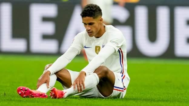 Raphael Varane: Man Utd defender injured for France in Nations League final