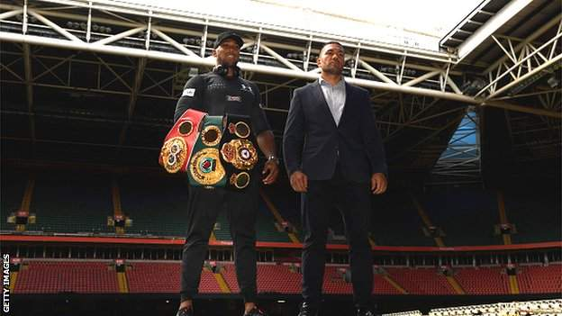 Joshua and Pulev at the Tottenham Hotspur Stadium
