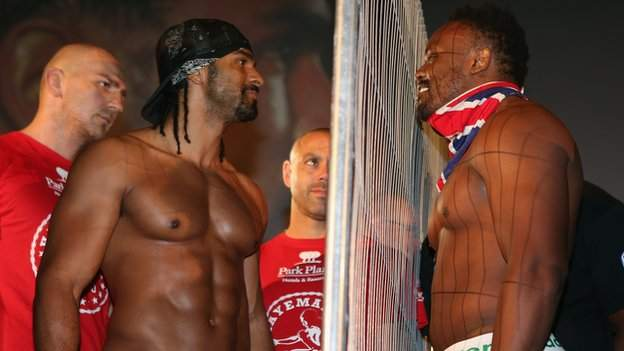 Haye and Chisora