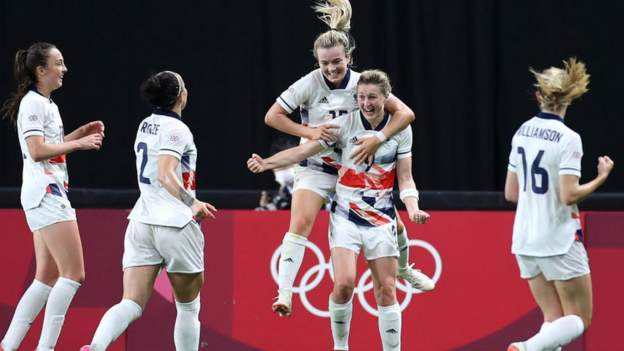 Olympic womens football: Team GB beat Japan to qualify for knockout stages