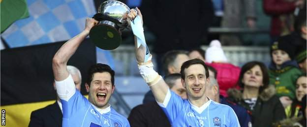 Sean and Colm Cavanagh won the All Ireland Intermediate trophy with their club Moy in February