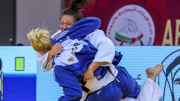 Natalie Powell in action in her semi-final