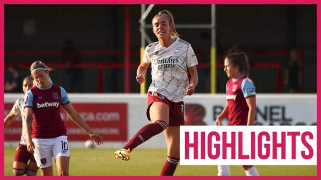 West Ham United Women 1-9 Arsenal: Jill Roord scores hat-trick as visitors storm to WSL victory thumbnail