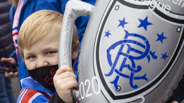Rangers top-flight champions for first time since 2011 after Celtic drop points - bbc
