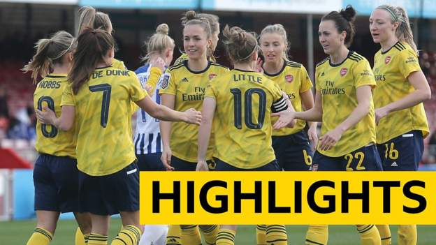 WSL Highlights: Brighton & Hove Albion Women 0-4 Arsenal Women thumbnail