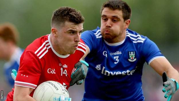 Conor McAliskey was Tyrone's top-scorer with six points