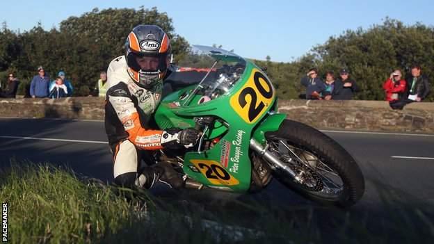 Maria Costello at the Classic TT