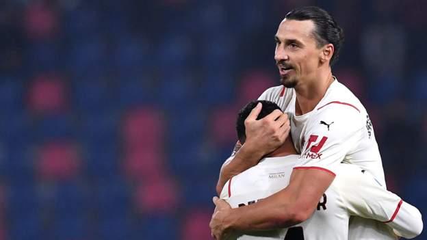 Bologna 2-4 AC Milan: Zlatan Ibrahimovic scores at both ends as Milan go top