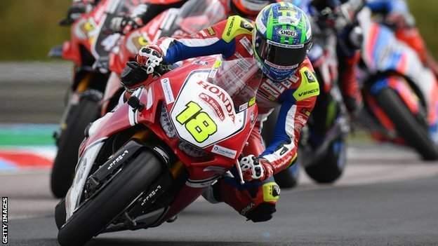 Honda Racing rider Andrew Irwin